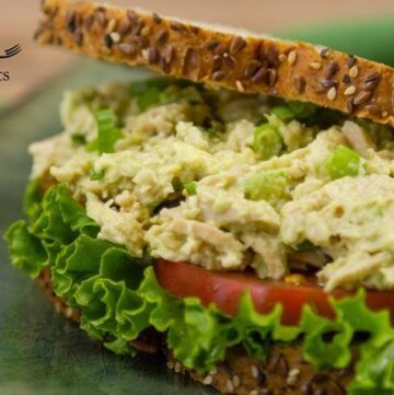 Avocado Tuna Salad Sandwich Recipe easy lunch