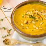Roasted Butternut Squash Soup with Roasted Butternut Squash Seeds Recipe It's the perfect way to celebrate fall (or winter).