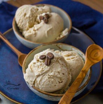 Homemade Coffee Ice Crream - custard based ice cream